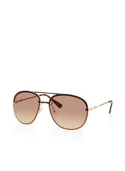 Glitter Rim Aviator Sunglasses - 3134004261291