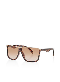 Square Half Rim Sunglasses - 3134004261670