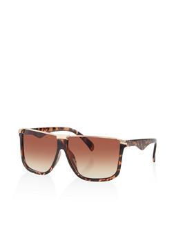 Square Half Rim Sunglasses - 3134004261670