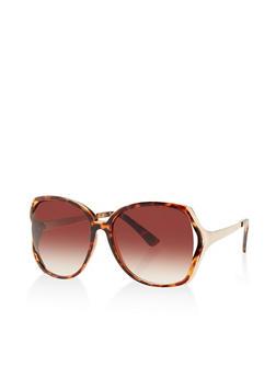 Plastic Cut Out Sunglasses - 3134004261757