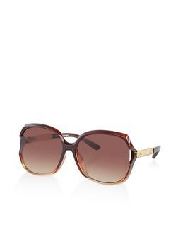 Side Metallic Detail Sunglasses - 3134004261863