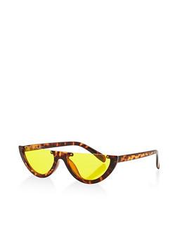 Half Moon Colored Lens Sunglasses - 3134004262525