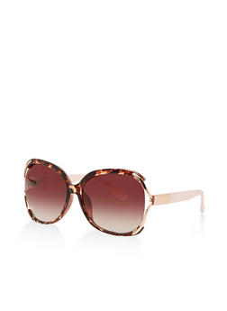 Metallic Open Side Sunglasses - 3134004263384
