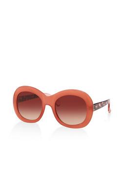 Plastic Oval Sunglasses - 3134004264993