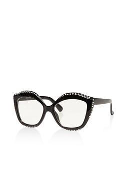 Rhinestone Studded Cat Eye Sunglasses - 3134004265241
