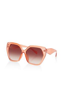 Plastic Geometric Sunglasses - 3134004265274