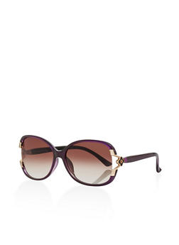 Flower Detail Sunglasses - 3134004265490