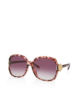 Flower Detail Square Sunglasses - 3134004265522