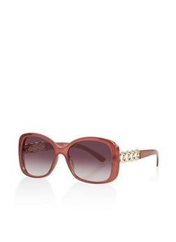 Chain Detail Sunglasses - 3134004265545