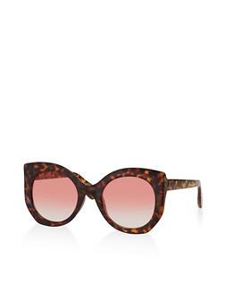 Oversized Round Cat Eye Sunglasses - 3134004265554