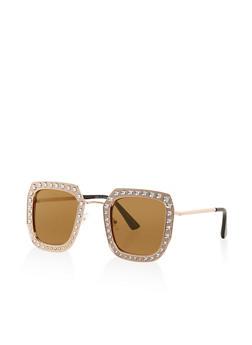 Rhinestone Studded Sunglasses - 3134004266621