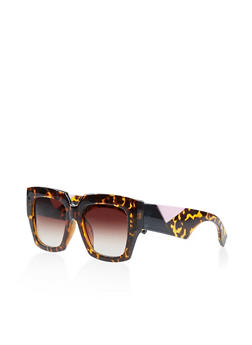 Oversized Square Plastic Sunglasses - 3134004266822