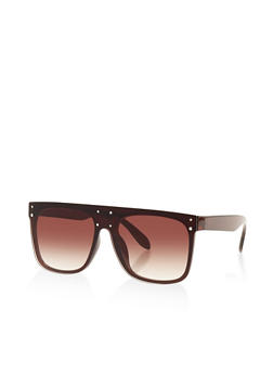 Studded Shield Sunglasses - 3134004268525