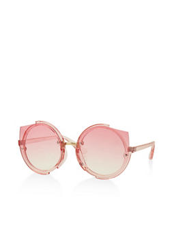 Round Cat Eye Colored Sunglasses - 3134056174393
