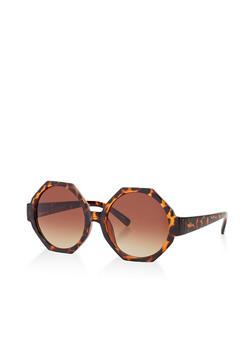 Colored Geometric Plastic Sunglasses - 3134056178073