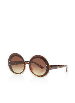 Rimless Round Sunglasses - 3134071210971