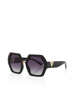 Geometric Plastic Sunglasses - 3134073216993