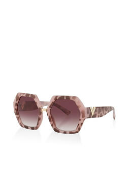 Geometric Plastic Sunglasses - 3134073216993