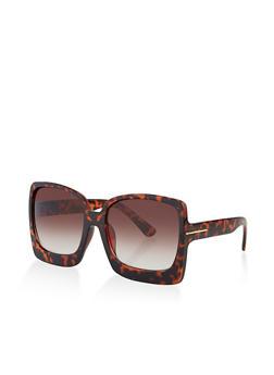 Plastic Large Square Sunglasses - 3134073217820