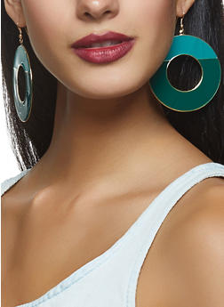 Painted Disc Earrings - 3135003201240