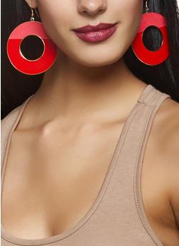 Painted Disc Earrings - 3135003201240