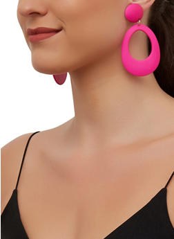 Geometric Oval Drop Earrings - 3135003201350
