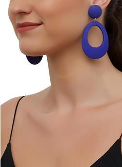 Geometric Oval Drop Earrings - 3135003201350