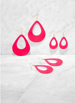 Variegated Teardrop Earring Trio - 3135003202803