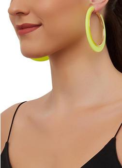 Neon Trim Hoop Earrings - 3135003204440