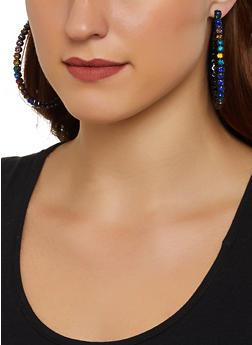 Rhinestone Hoop Earrings | 3135029364113 - 3135029364113