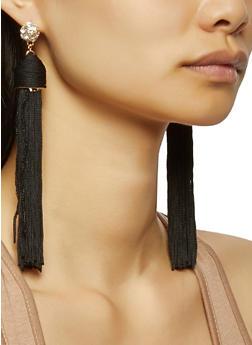 Large Tassel Earrings - 3135035150116