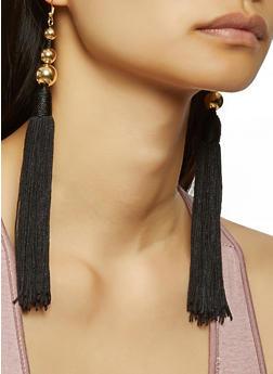 Beaded Tassel Earrings - 3135035150750