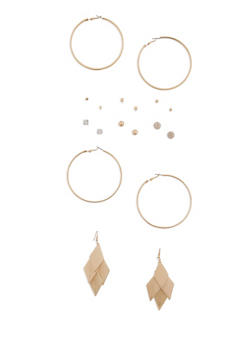 Assorted 9 Piece Earrings Set - 3135035153715