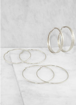 Hoop Earrings Trio - 3135035157009