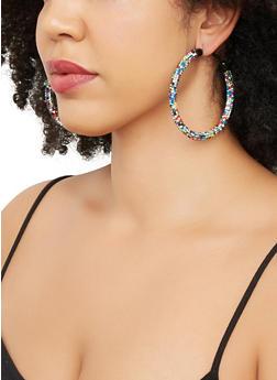 Rhinestone Hoop Earrings | 3135057693239 - 3135057693239