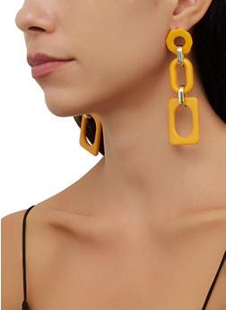 Geometric Resin Drop Earrings - 3135057693466
