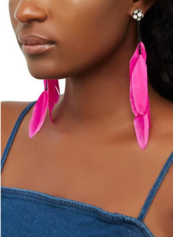 Feather Drop Earrings | 3135057694021 - 3135057694021