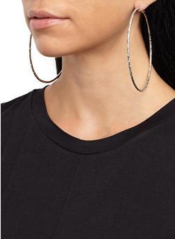 Multi Size Hoop Earrings Trio - 3135057699045
