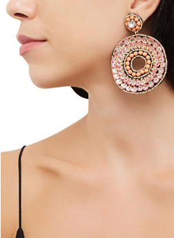 Sequin Beaded Felt Earrings - 3135062814276