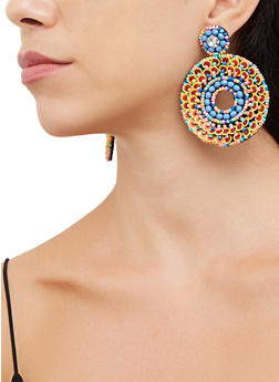 Sequin Beaded Felt Earrings - 3135062814276