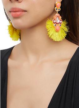 Jeweled Fringe Drop Earrings - 3135062817500