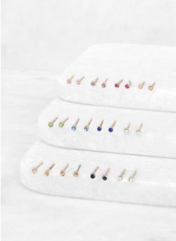 Mini Rhinestone Stud Earrings Set - 3135062920352