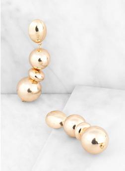 Chunky Metallic Beaded Drop Earrings - 3135062920534