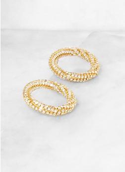 Rhinestone Circle Earrings   3135062921754 - 3135062921754