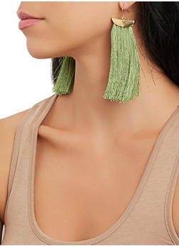 Metallic Fringe Drop Earrings - 3135062921973