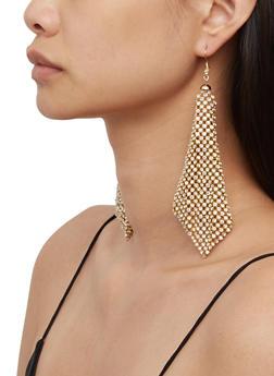 Rhinestone Kite Earrings - 3135062922794