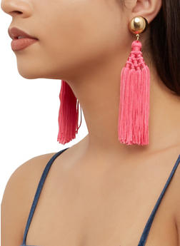 Multi Tassel Earrings - 3135062924217