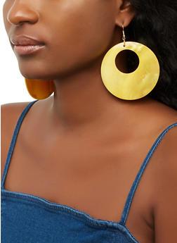 Open Disc Shell Earrings - 3135062928035