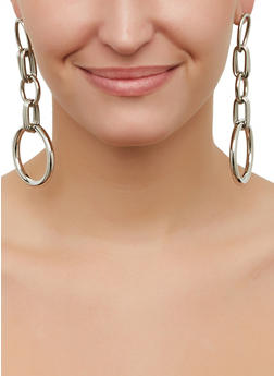 Chain Link Earrings Set - 3135062928436