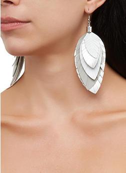 Foil Leaf Drop Earrings - 3135067251753
